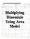 Multiplying Binomials Using Area Model